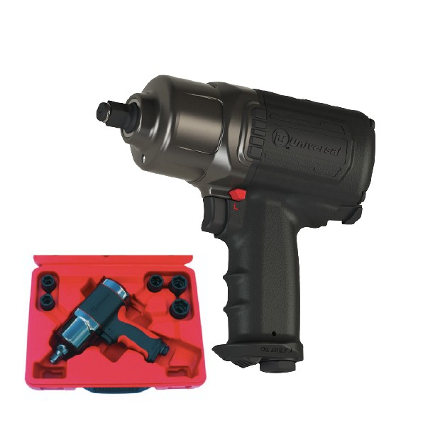 "1/2"" High-Low Torque Impact Wrench Kit with sockets"